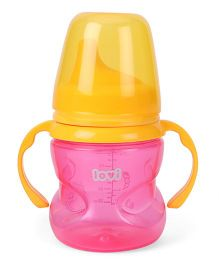 Lovi Non Spill Firm Spout Cup Pink - 150 ml