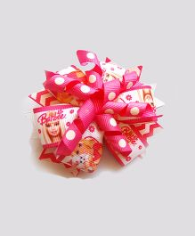 Reyas Accessories Multicolored Doll Big Bow Hair Clip - Pink