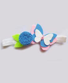 Reyas Accessories Felt Butterfly Headband - Blue & Pink