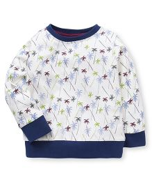 Ollypop Full Sleeves All Over Printed Sweatshirt - Cream