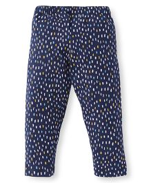 Ollypop Full Length Printed Leggings - Navy Blue