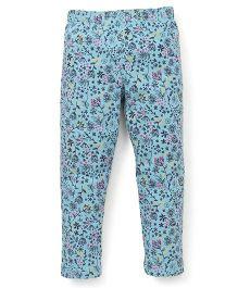 Ollypop Full Length Printed Leggings - Blue