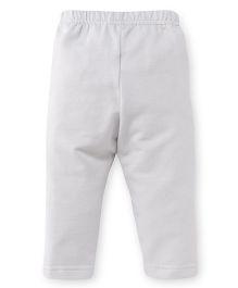 Ollypop Full Length Solid Colour Leggings - Off White