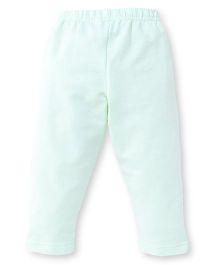 Ollypop Full Length Solid Colour Leggings - Pista Green