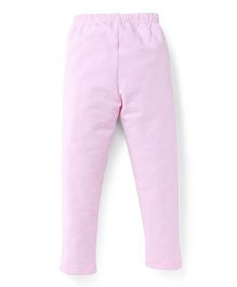 Ollypop Full Length Solid Colour Leggings - Pink