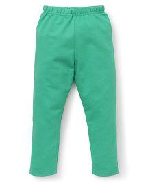 Ollypop Full Length Solid Colour Leggings - Green