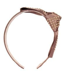 Cutecumber Hair Band With Embellishments - Brown