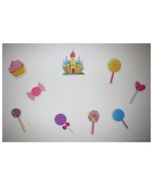 Kidoz Wooden Candy Land Motifs Wall Decor Pack Of 5 - Multi Color