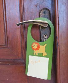 Kidoz Door Hanger Lion Motif Pack Of 5 - Green