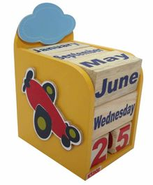 Kidoz Plane Motif Calendar Pack Of 5 - Yellow