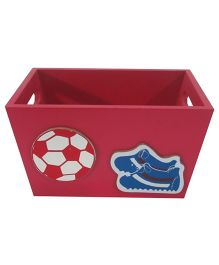 Kidoz Sports Motif Utility Container Pack Of 5 - Red