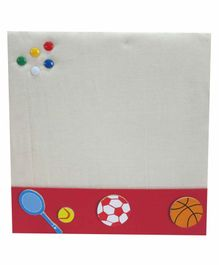 Kidoz Super Economy Pin Board Pack Of 5 - Red