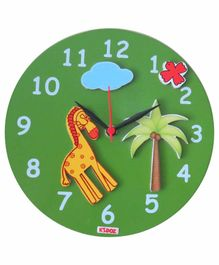 Kidoz Super Economy Wall Clock Animals Theme Pack Of 5 - Green