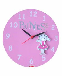 Kidoz Super Economy Wall Clock Princess Theme Pack Of 5 - Pink