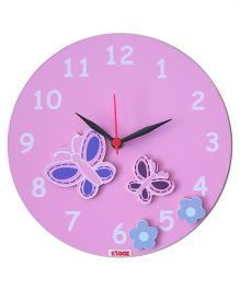 Kidoz Super Economy Wall Clock Butterfly Theme Pack Of 5 - Pink