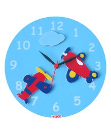 Kidoz Super Economy Wall Clock Planes Theme Pack Of 5 - Blue