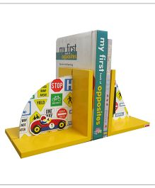 Kidoz Super Economy Bookend Racing Theme Pack Of 5 - Yellow