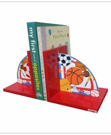 Kidoz Super Economy Bookend Sports Theme Pack Of 5 - Red
