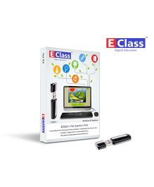 E-Class 5th Standard English Medium Computer Windows Pen drive - Maths Environment Grammar