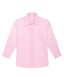 Moobaa Pintuck Placket Boys Shirt - Pink
