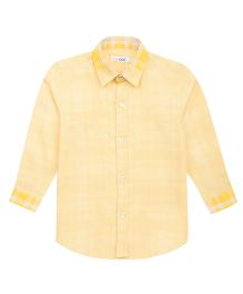 Moobaa Houndstooth Boys Shirt - Yellow