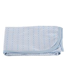 Colorfly Single Ply Blanket Large Size - Blue White
