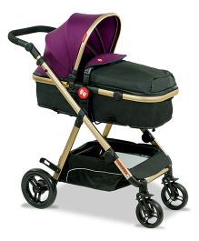 Fisher Price Hiker Luxury Stroller Cum Pram Plum Black - FPST03P
