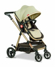 Fisher Price Hiker Luxury Pram Cum Stroller Brown Green - FPST03B