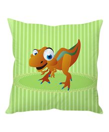 Stybuzz Dinosaur Cartoon Cushion Cover - Green And Brown