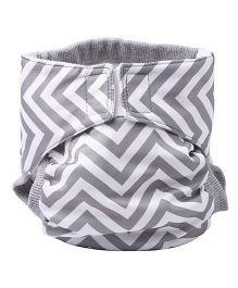Bumchum Hybrid Cloth Diaper Cover & One Washable Insert Small - Pink Grey