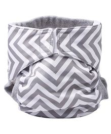 Bumchum Waterproof Diaper Cover With Insert Jumbo Grey White - Small