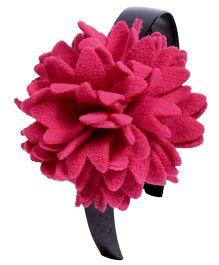 Miss Diva Elegant Polar Fleece Warm Look Flower Hairband - Pink