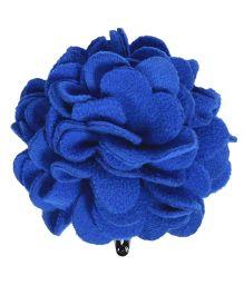 Miss Diva Elegant Polar Fleece Warm Look Flower Tic Tac - Blue