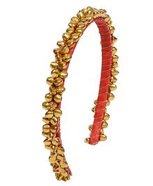 Miss Diva Ghungroo Hairband - Golden & Coral