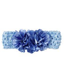 Miss Diva Flower Bunch Soft Headband - Blue