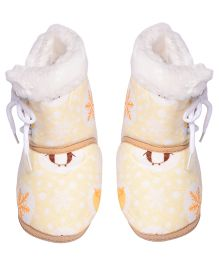 Miss Diva Smart Printed Ultra Soft High Boots - Yellow