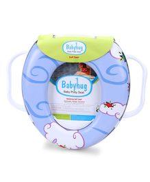 Babyhug Soft Potty Seat With Handle - Sky Blue
