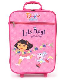 Simba Dora Lets Play Luggage Trolley - Pink