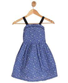 Kids On Board Butterfly Print Dress - Blue