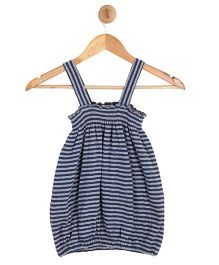 Kids On Board Balloon Top With Smocking Pattern - Blue