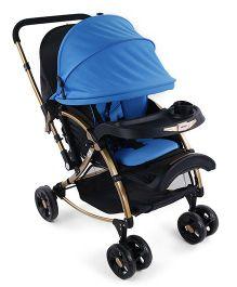 Babyoye Stroller Cum Rocker - Blue Black