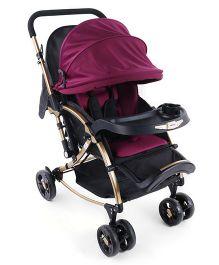 Babyoye Stroller Cum Rocker - Purple Black