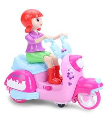 Smiles Creation Scooter Riding Doll - Pink Blue Purple