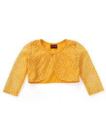 Twisha Lace Shrug To Team With Occasion Wear - Dark Mango