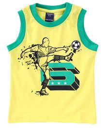 Tango Sleeveless T-Shirt With Print - Yellow