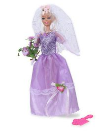 Tickles Pretty Bride Wedding Doll Purple - 29 cm