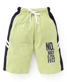 Taeko Three Fourth Pant With Side Stripes - Green