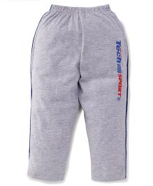 Taeko Full Length Track Pants Tech Sport Print - Grey