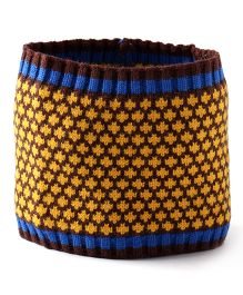 Little Hip Boutique Knit Head Wrap - Yellow & Brown