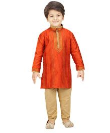 Shree Shubh Ethnic Kurta Pajama Set - Orange